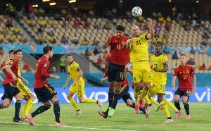 НА ЖИВО: Испания - Швеция 0:0, невероятен пропуск на Мората