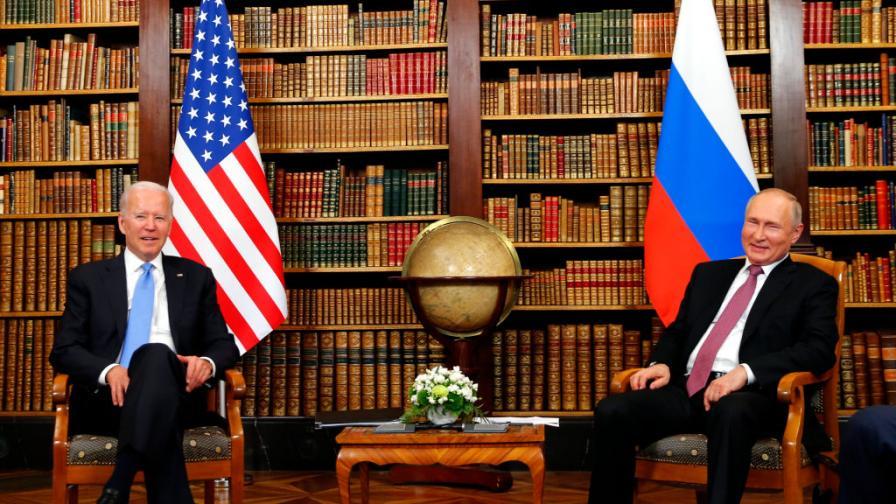 Джо Байдън и Владимир Путин в Женева