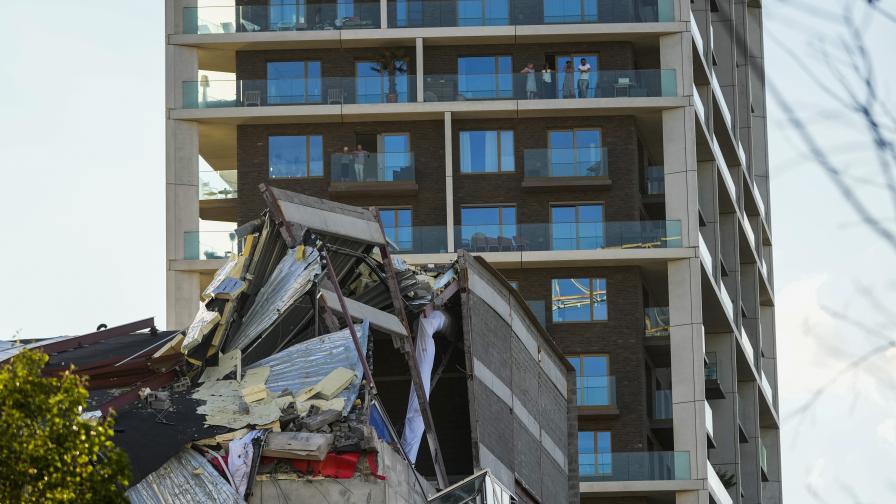 Строяща се сграда се срути в Антверпен, има жертви