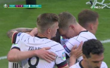 Германия се забавлява - Госенс реализира и четвърти гол