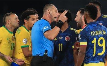 Колумбия беснее заради съдийско рамо за Бразилия