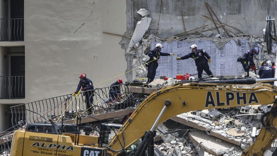 Над 150 души в неизвестност, след като във Флорида рухна сграда
