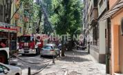 Голям пожар в центъра на София, евакуираха хора в жилищна сграда