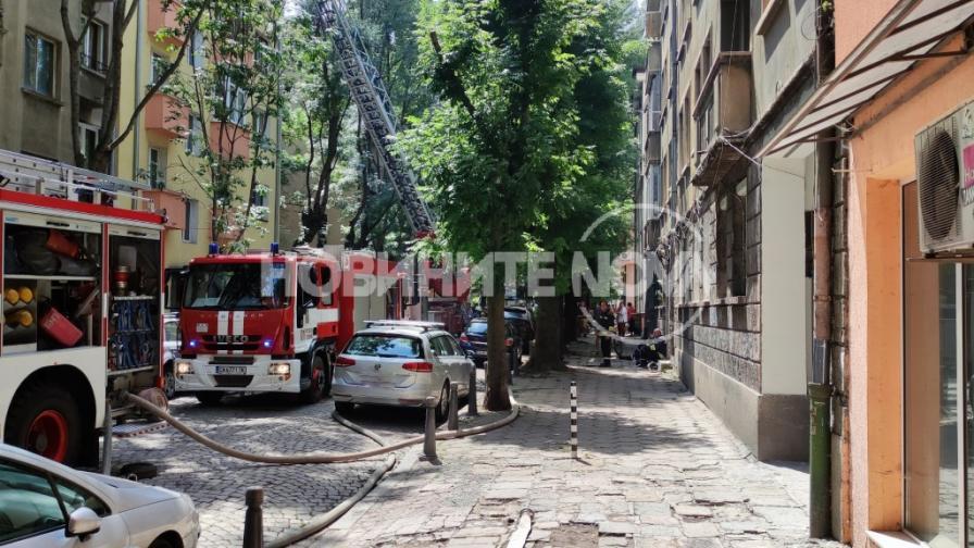 <p>Голям пожар в София, евакуираха хора&nbsp;</p>