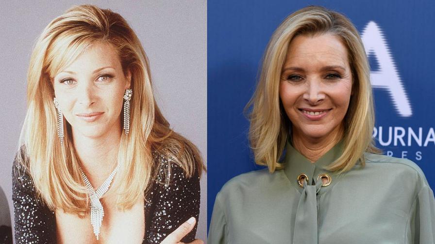 Лиса Кудроу през 1996 и 2019 г.
