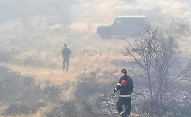 Пожарът край санданското село Петрово е локализиран