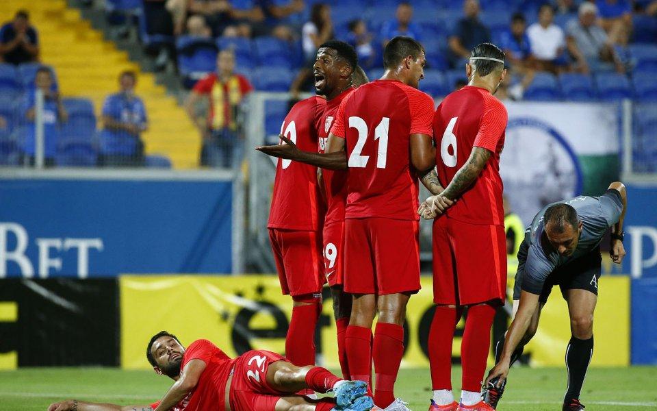 Левски посреща Царско село играят при резултат 0:1в мач от