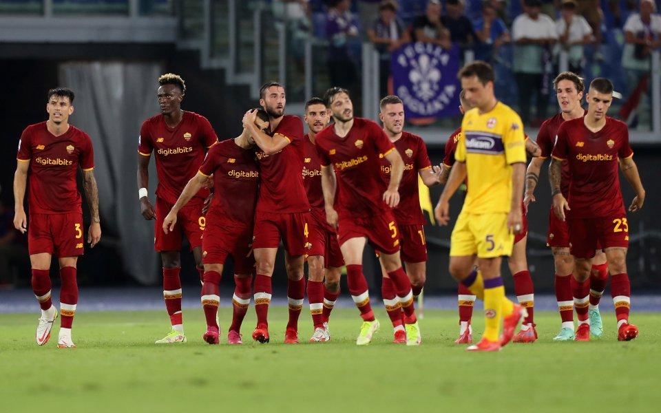 "РоманадвиФиорентинас 3:1 на своя стадион ""Олимпико"" в Рим в мач"