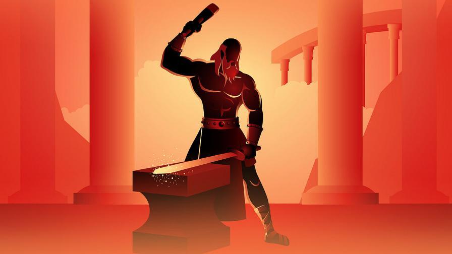 Легендата гласи, че Талос бил създаден от ковача на боговете и покровителя на огъня Хефест
