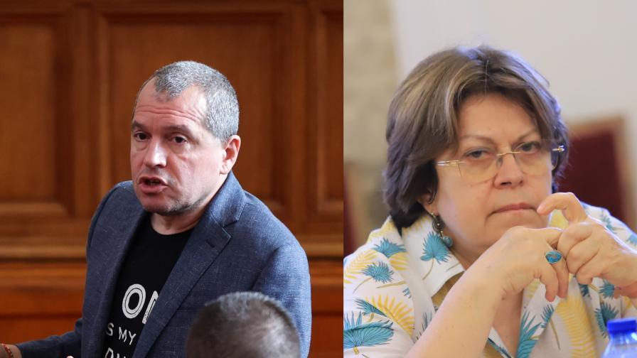 <p>Йорданов и Дончева в задочен спор,&nbsp;предлагани ли са пари&nbsp;</p>