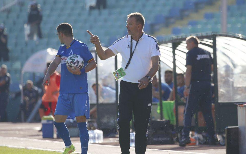 Наставникът на ЦСКА Стойчо Младенов остана изключително доволен от цялостното