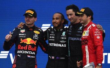 Дъждът в Русия донесе победа №100 във Формула 1 за Хамилтън, британецът отново е лидер