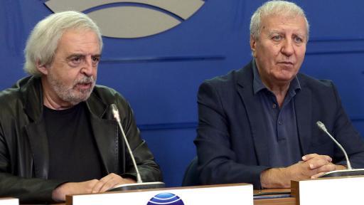 Александър Томов и проф. Лъчезар Аврамов (вляво)