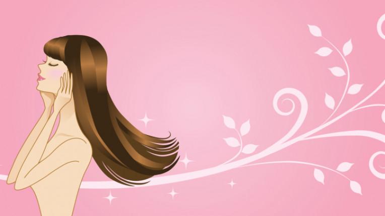 коса жена романтика бретон розово