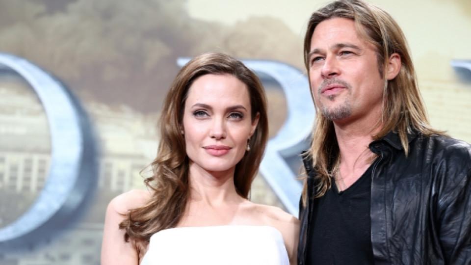 """Двойката по време на премиерата на лентата """"World War Z"""", Берлин, 4 юни 2013 г."""