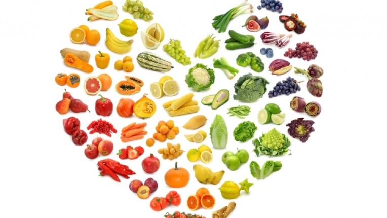 зеленчуци плодове сърце