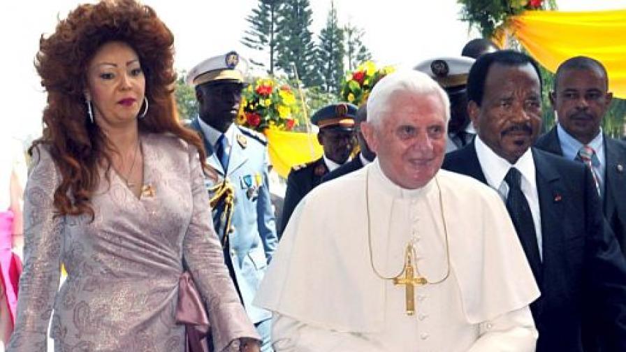 Днес папа Бенедикт XVI е на посещение в Камерун