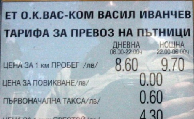 Искат да въведат пределна цена за такситата