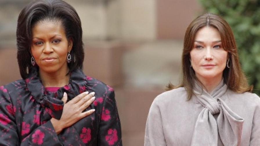 """Задочната """"вражда"""" между Мишел Обама и Карла Бруни сякаш приключи"""