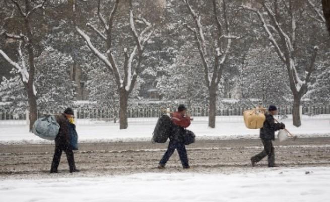 Сняг блокира Пекин