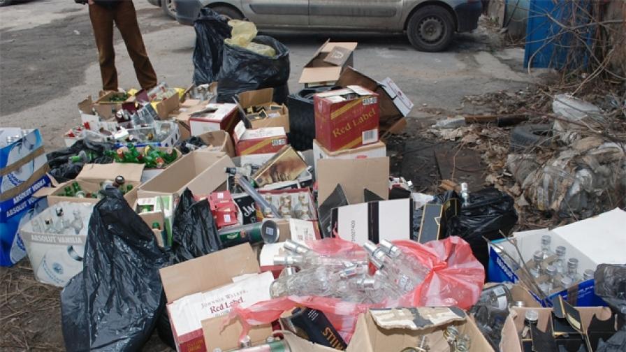 Цех за фалшив марков алкохол разбиха в Княжево