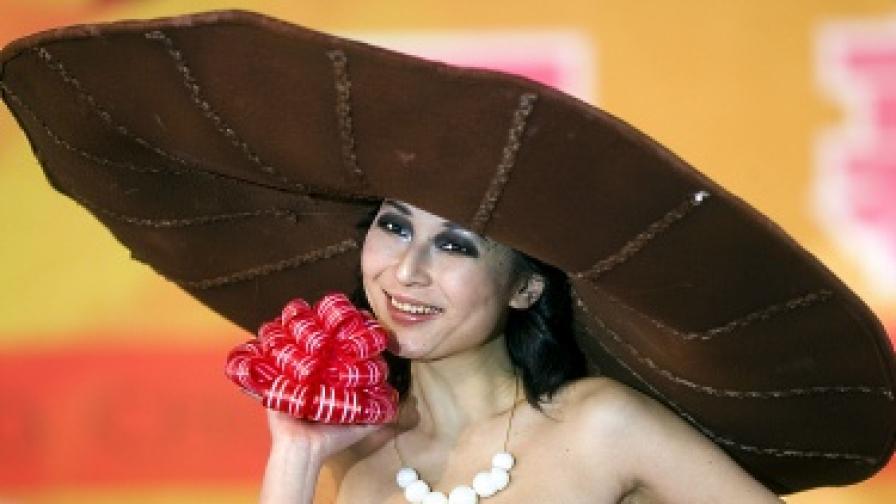 Тази шапка е великолепна, но  е и много вкусна, защото е направена от шоколад
