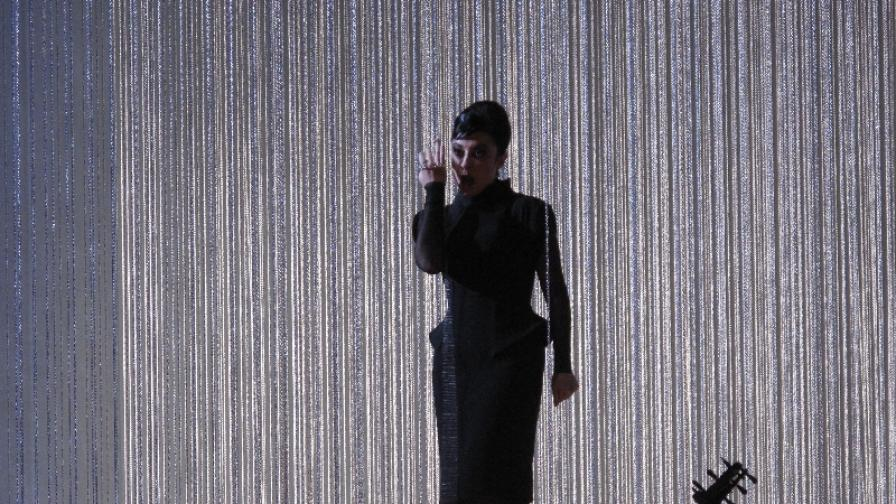 Александрина Пендачанска като Агрипина на сцената в Берлин