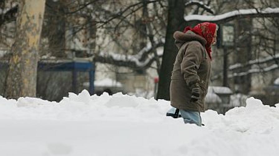 Най-много сняг валя в Лом и Видин