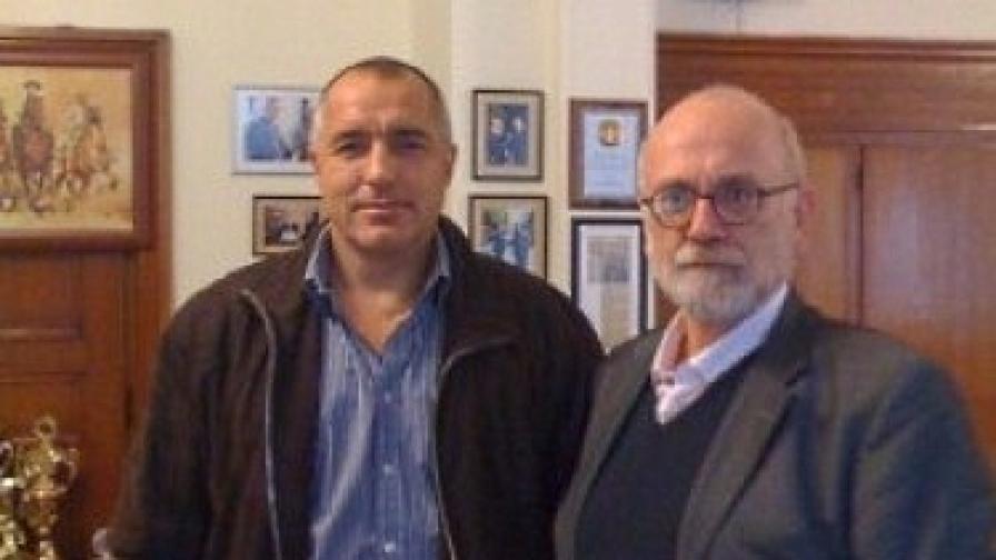 Бойко Борисов и Юрген Рот при срещата им в София през 2008 г.