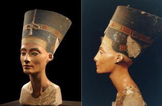 Бюстът на египетската царица Нефертити (ок.1370-1330 пр. Хр., който се намира в Берлин)