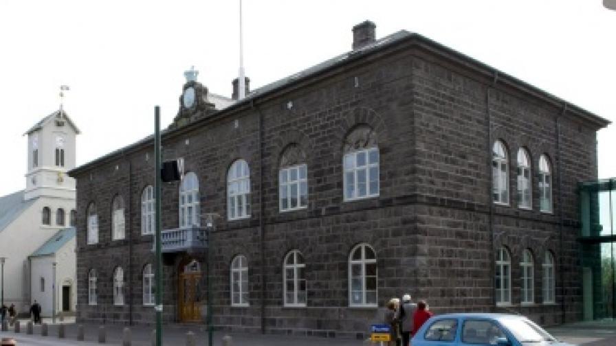 Сградата на исландския парламент в Рейкявик