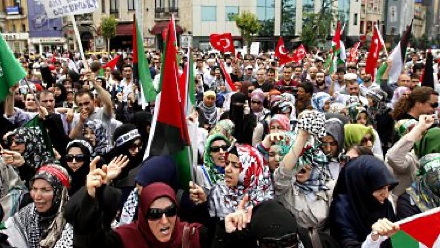 Антиизраелски протести в цяла Европа