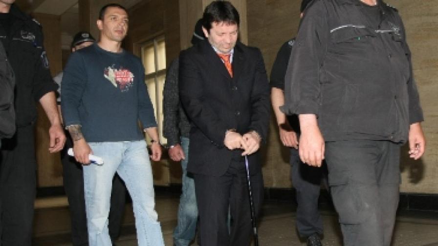 Красимир Маринов при довеждането му в съда на 11 юни т.г.