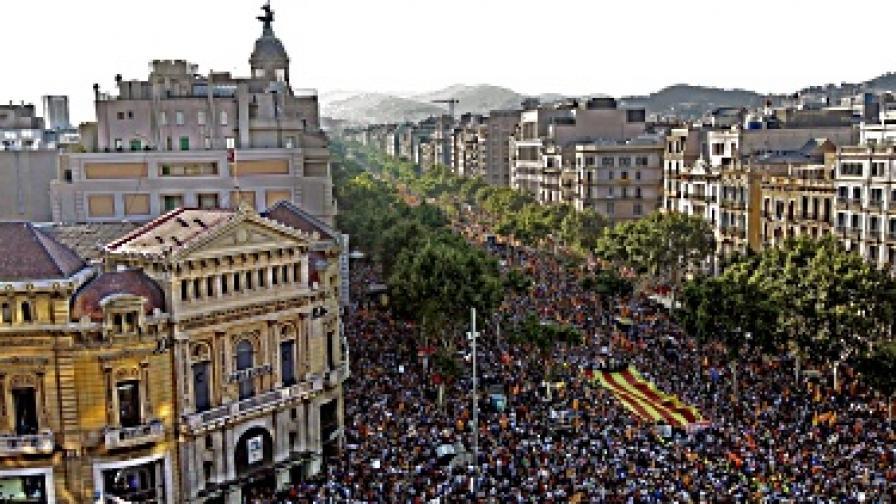 Над милион на протест в Каталуня
