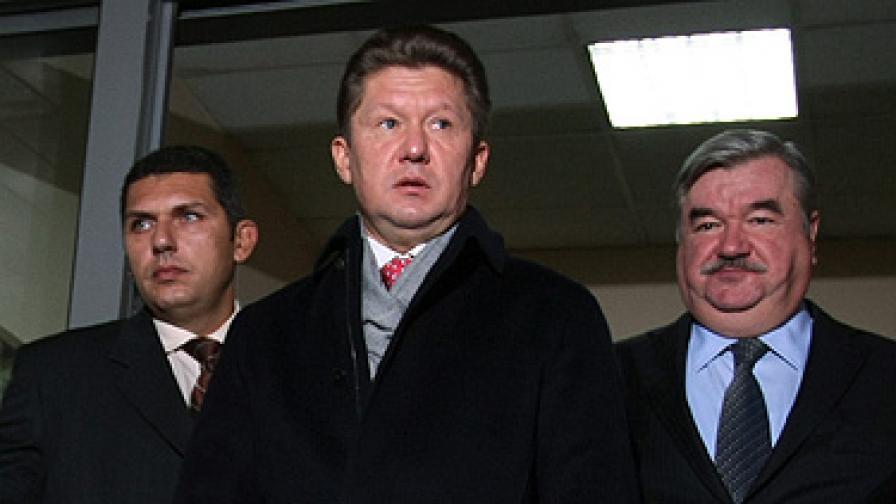 """Шефът на """"Газпром"""" Алексей Милер пристигна вчера в България"""