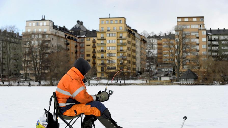 Пейзаж от Стокхолм, Швеция, най-голямата държава от петте