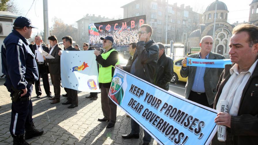 Български и румънски полицаи недоволни заедно