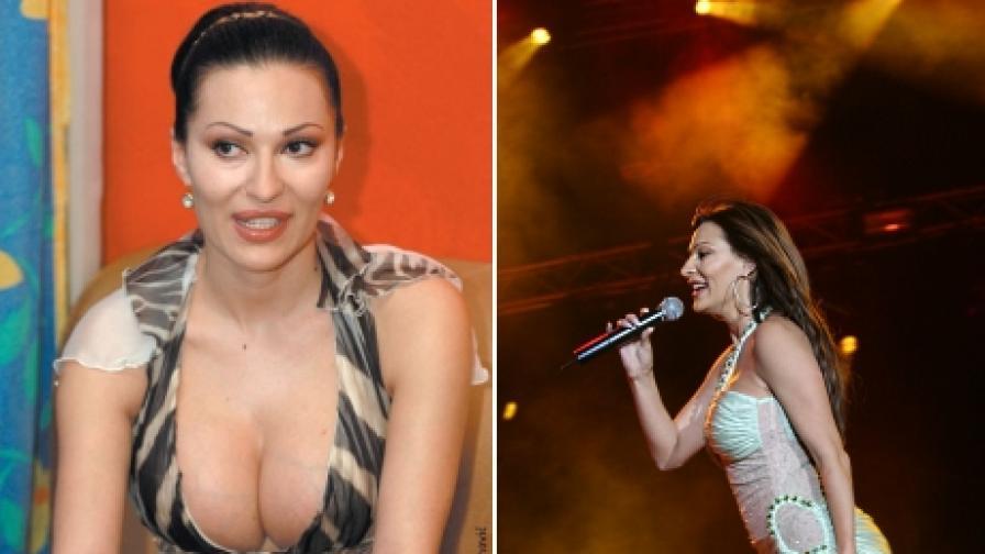 Цеца Величкович през 2004 г. и на концерта в София през 2006 (д)