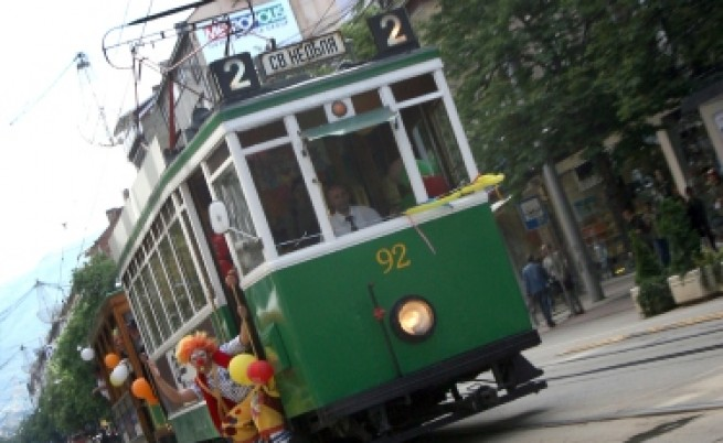 Ретро трамвай по празниците в София