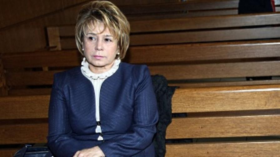 Емилия Масларова по време на процеса