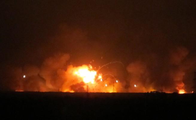 Огромен пожар в руски складове за боеприпаси