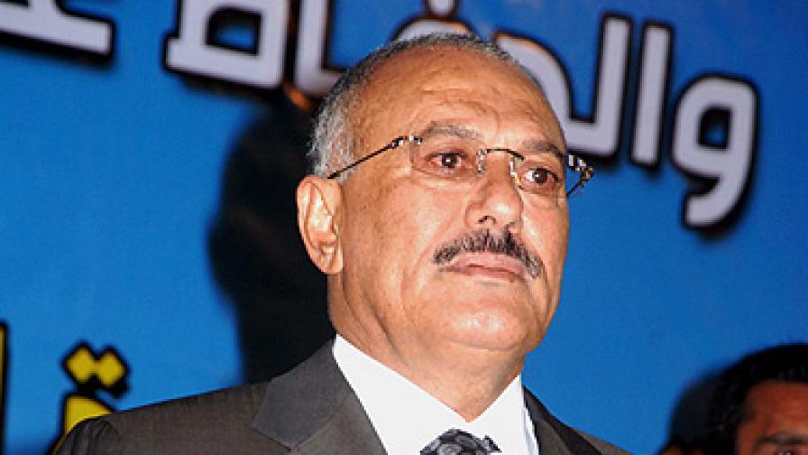 Йеменският президент с 40% изгаряния