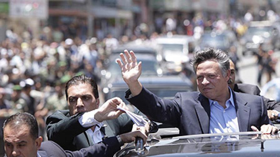Атакуваха кортежа на йорданския крал с камъни и празни бутилки