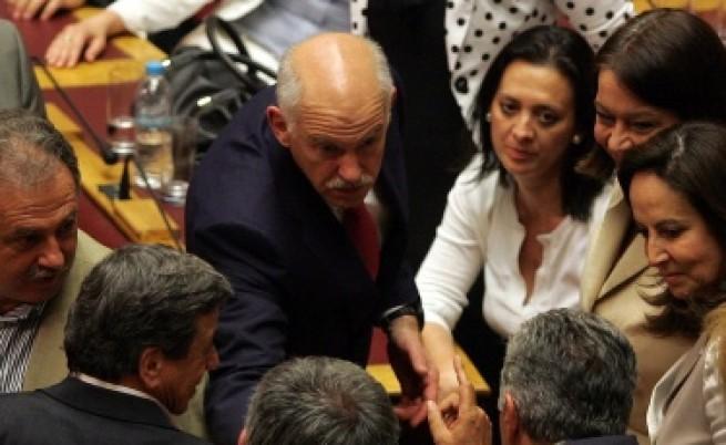 Папандреу спечели вота на доверие