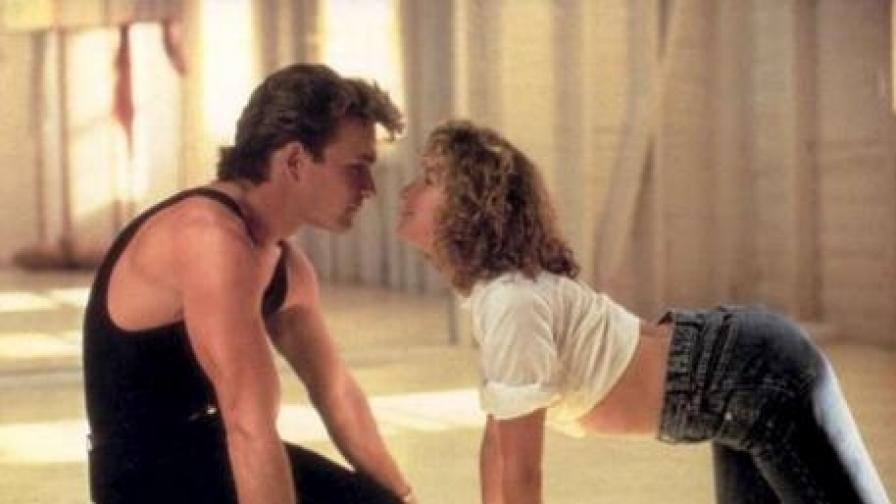 """Патрик Суейзи и Дженифер Грей в """"Мръсни танци"""" (1987)"""