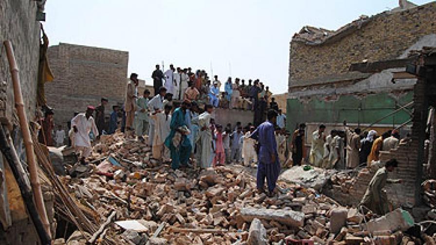 Сградата на хотела е била разрушена от експлозията