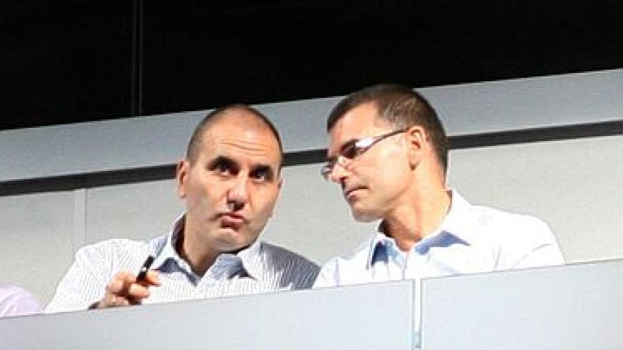 Двамата вицепремиери при откриването на новата спортна зала в София, 30 юли 2011 г.