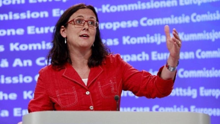 Еврокомисарят по вътрешните работи Сесилия Малмстрьом