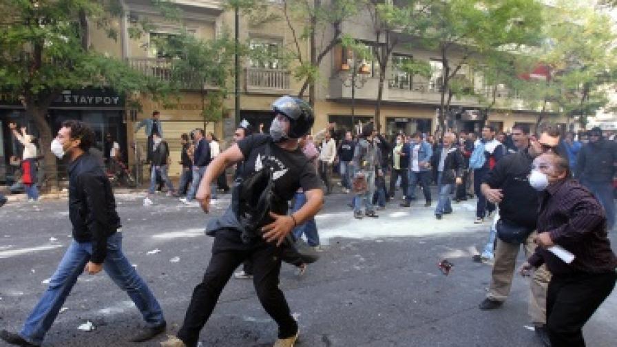 Над 125 хил. души на протест в Гърция