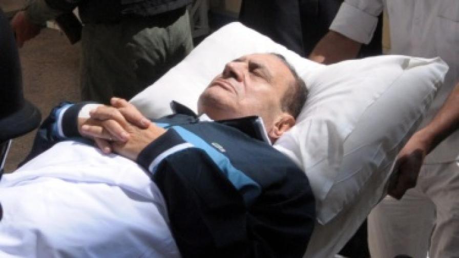 Подновен бе процесът срещу Хосни Мубарак